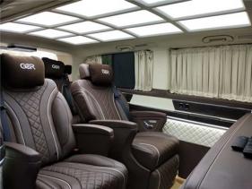 西安奔驰威霆商务车内饰航空座椅改装--西安汉枫房车